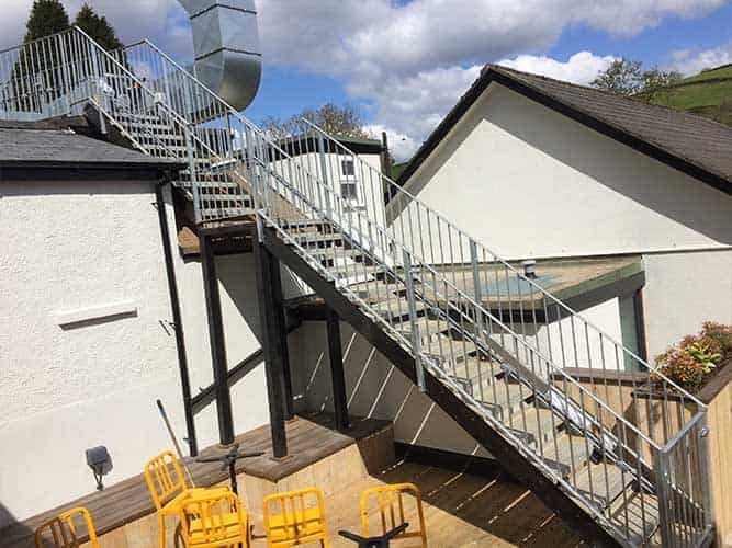 New handrails and treads fitted on an existing staircase
