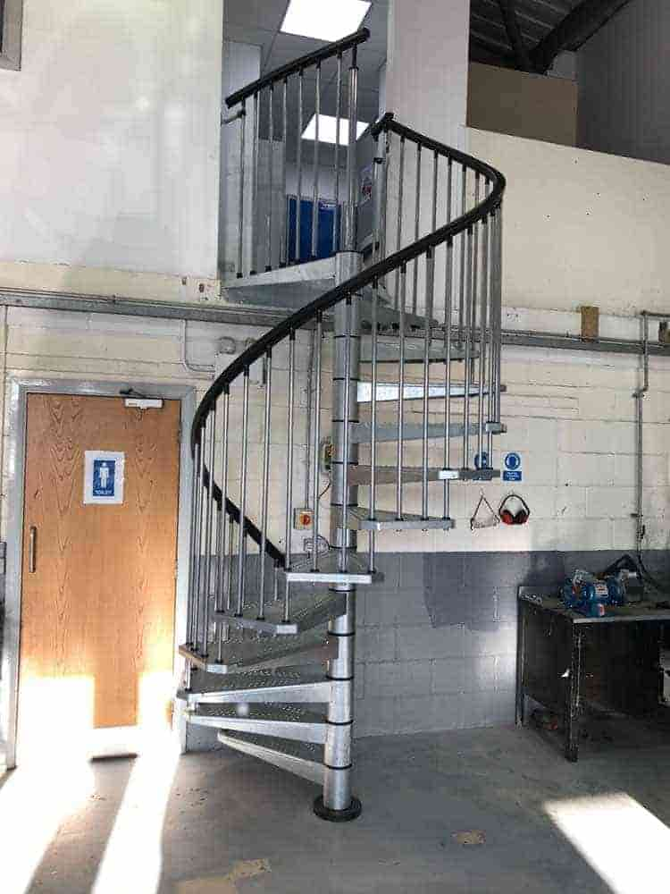 New spiral staircase to maximise available floor space