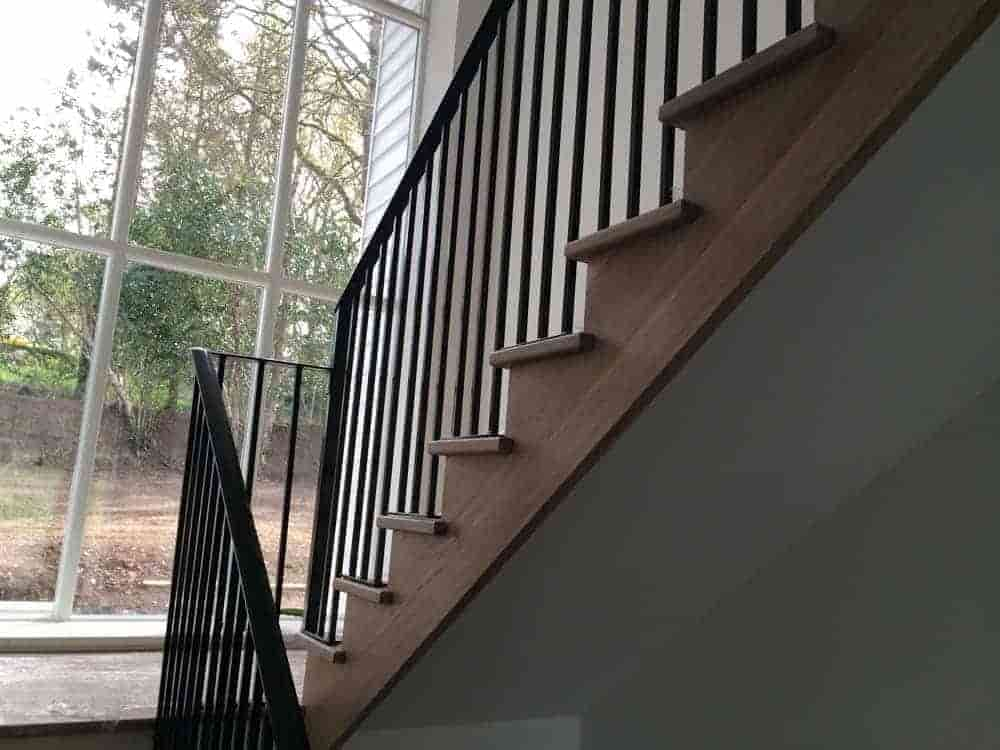 Railings to complement new contemporary oak staircase in Westhill 1 (1)