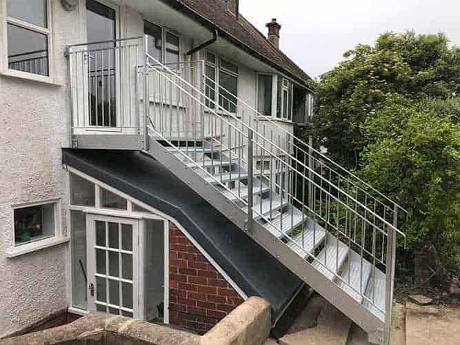 Replaced staircase