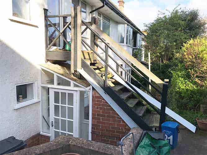 staircase in need of replacement